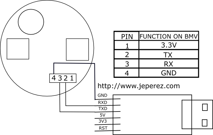 Victron BMV connection schematic.